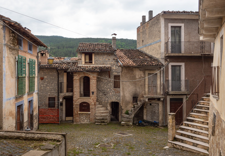 Assergi (Abruzzo, Italy) - A small charming medieval village surrounded by stone walls, in the municipality of LAquila, under the Gran Sasso mountain, now abandoned after the earthquake Redakční