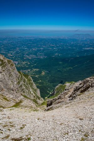 Appennini mountains, Italy - The mountain summit of central Italy, Abruzzo region, above 2500 meters Banco de Imagens