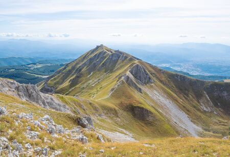 Rieti (Italy) - The summit of Monte Terminillo during the summer. 2216 meters, Terminillo Mount is named the Mountain of Rome, located in Apennine range, central Italy