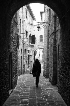 Assisi, Umbria (Italy) - The awesome medieval stone town in Umbria region, with the famous Saint Francis sanctuary, during Christmas holidays.