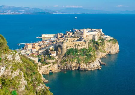 Gaeta (Italy) - The little port city on the sea, province of Latina, with 'Montagna Spaccata' broken mountain and 'Grotta del Turco' cave