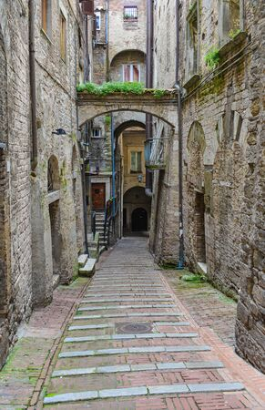 Perugia (Italy) - The awesome medieval city, capital of Umbria region, in central Italy.