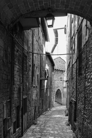 Perugia (Italy) - The suggestive medieval city, capital of Umbria region, in central Italy. Here a view of artistic historical center. Banque d'images - 143476719