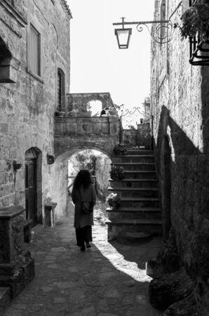 Civita di Bagnoregio (Viterbo, Lazio)- The famous ancient village on the hill between the badlands, in the Lazio region, central Italy, known as