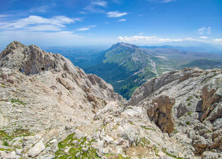 Appennini mountains, Italy - The mountain summit of central Italy, Abruzzo region, above 2500 meters, with chamois