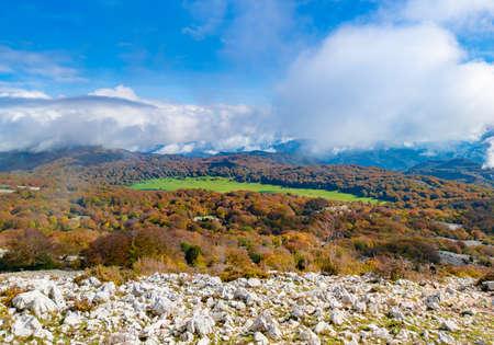 Mount Zappi in Lazio region (Italy) - Also know as Gennaro, peak in the Lucretili mountain