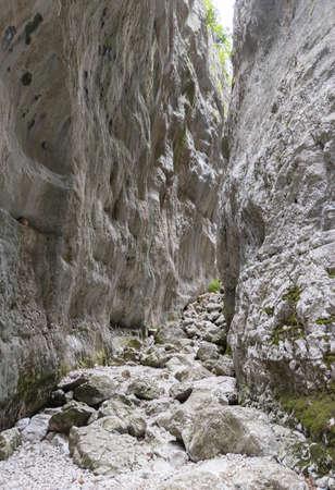 Gole di Celano (Italy) - A naturalistic wild attraction for hikers in the Natural Park Sirente-Velino, Abruzzo region, municipal of Aielli and Celano