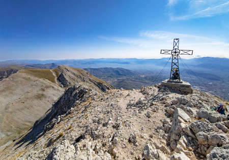 Mount Velino (Abruzzo, Italy) - the landscape summit of Mount Velino, one of the highest peaks of the Apennines mountain, 2487 meters. Reklamní fotografie