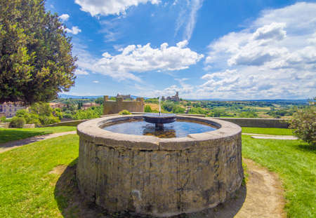 Tuscania (Italy) - A view of etruscan and medieval town in province of Viterbo, Tuscia, Lazio region. Reklamní fotografie