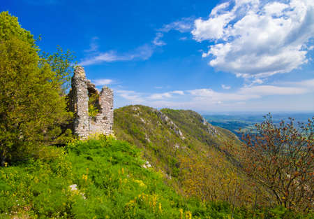 Monte Soratte in Sant'Oreste (Italy) - The beautiful landscapes with old hermitages in the mountain natural reserve in province of Rome, Sabina area, during the spring.