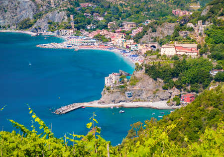Monterosso al Mare (Italy) - A view of Monterosso, one of Five Lands villages in the coastline of Liguria region, part of the Cinque Terre National Park