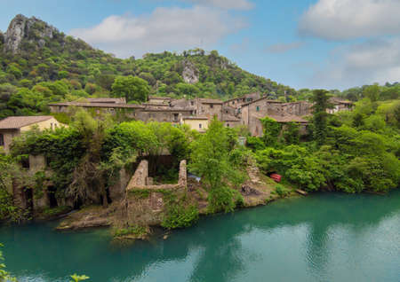 Gole del Nera (Narni, Italy) - A view of the old medieval village of Stifone