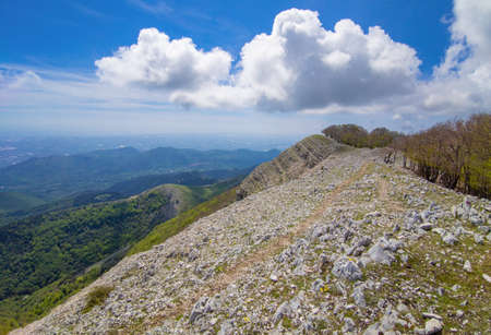 Monte Semprevisa (Italy) - A view of the highest peak in the Monti Lepini, Lazio region, with an elevation of 1536 metres.
