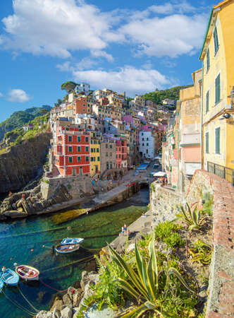 A view of Riomaggiore (Italy), one of Five Lands villages in the coastline of Liguria region, part of the Cinque Terre National Park Reklamní fotografie