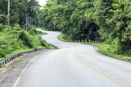 curve: road curve Stock Photo