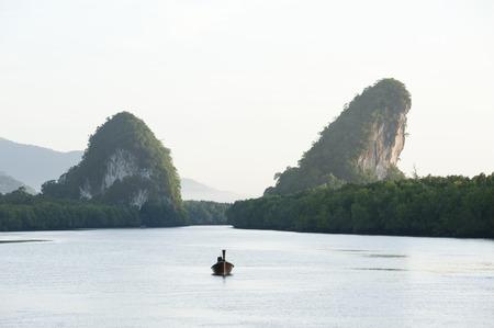 krabi: Krabi river in Krabi ,Thailand Stock Photo