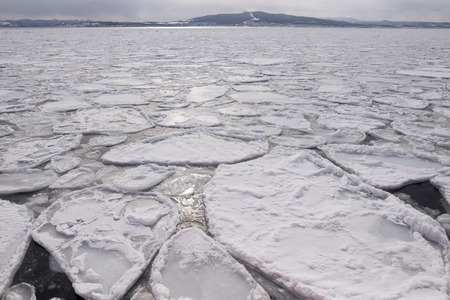 ice sheet: ice sheet in ocean Stock Photo