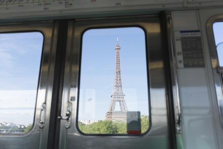 through window: eiffel tower see  through window