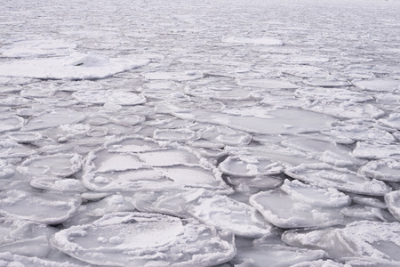 markermeer: ice sheet in ocean Stock Photo