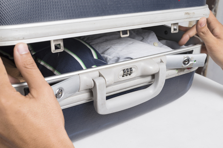 combination: hand opened suitcase combination lock