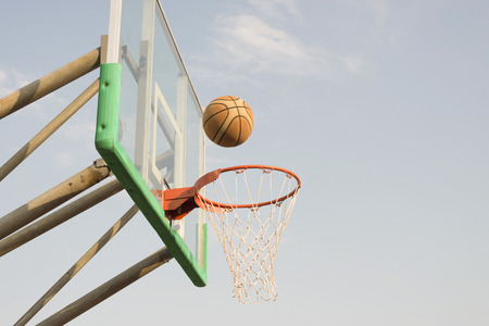swish: ball moving to the goal Stock Photo