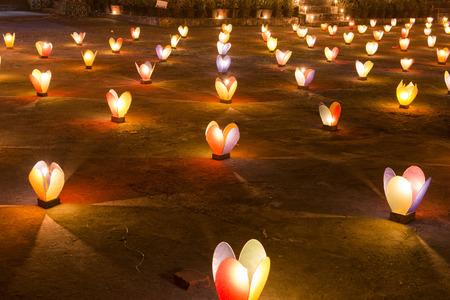 an oil lamp: color vela, lámpara Foto de archivo