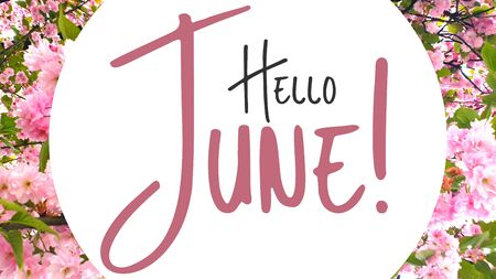 Summer spring season hello june Stock Photo