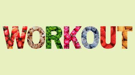 Workout word fitness strong power