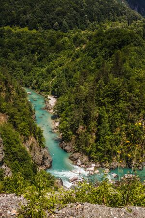Canyon of the river Tara in mountains of Montenegro.
