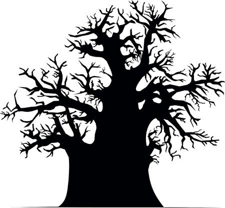 aboriginal: �rbol baobab  Vectores