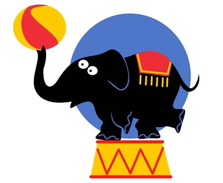 funny circus elephant Vector