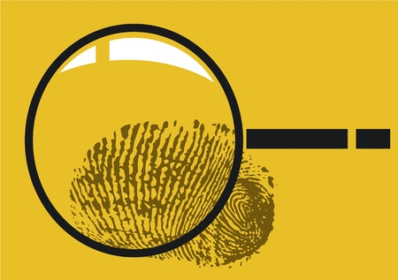 investigate: magnifying glass Illustration