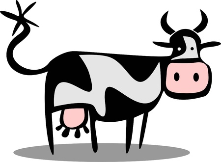 cow cartoon: funny cow
