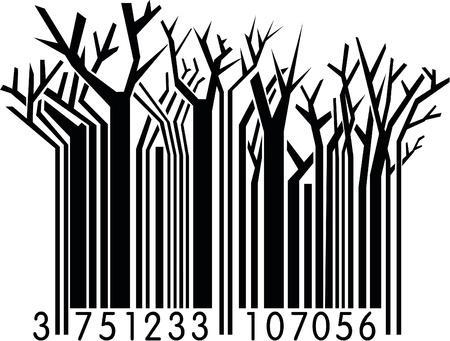 Winter  Barcode  Stock Vector - 10739849