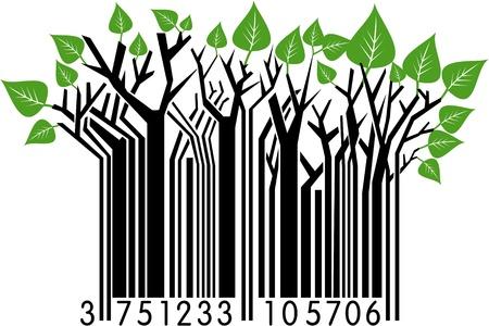 Barcode wiosna Ilustracje wektorowe