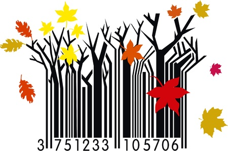 Autumn Barcode Vector