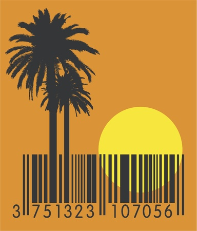 barcode scanning: summer barcode  Illustration