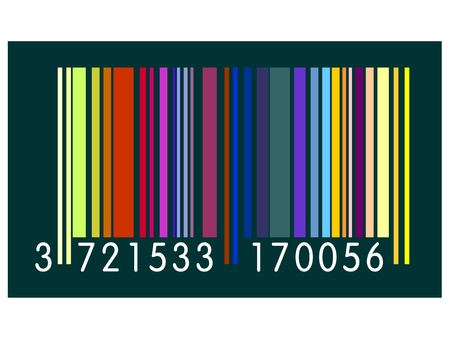 Colored Barcode  Illustration