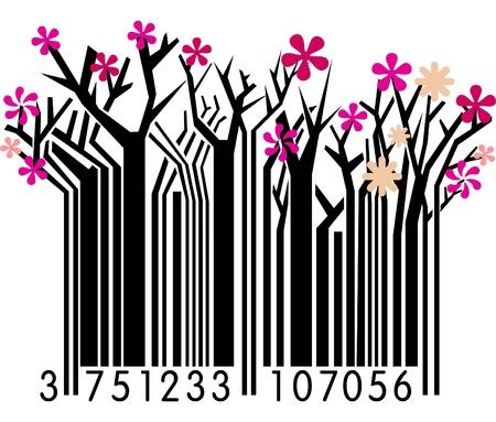 Spring Barcode Vector