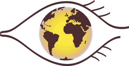Earth Eye Vector