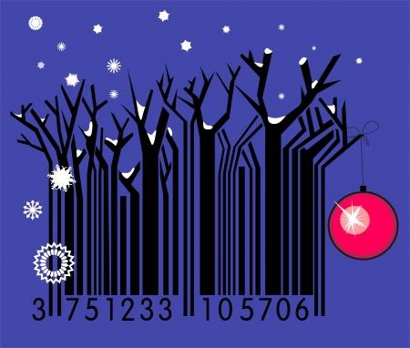Winter barcode