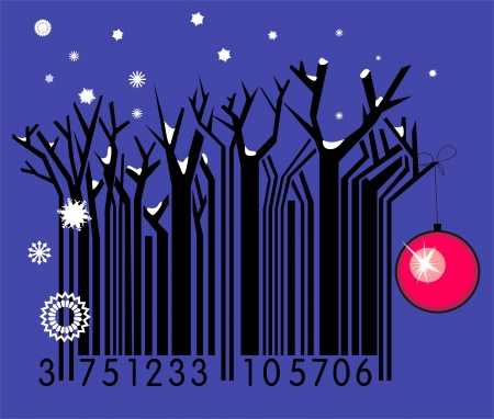 Winter barcode  Vector