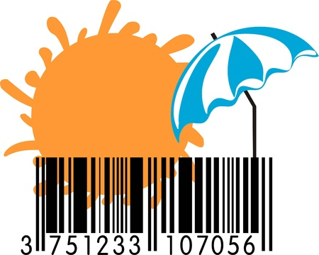 Summer Barcode Vector
