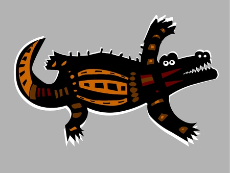 Vector Illustration of Crocodile  Vector