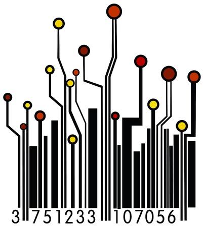bar code reader: Circuit Board Barcode