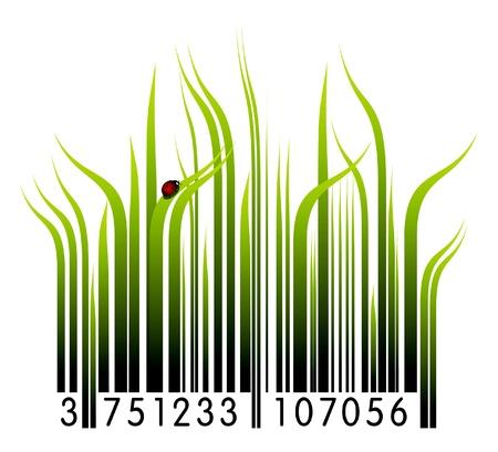 barcode: Organische barcode Stock Illustratie