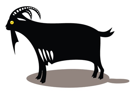 Black goat  Vector