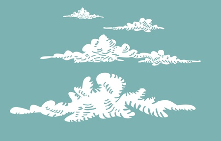 Abstract Retro Cloud Background  Vector