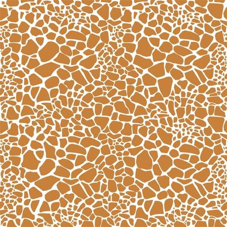 Giraffe huid naadloze patroon Vector Illustratie