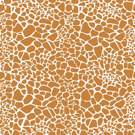 a print: Giraffe skin seamless pattern Illustration